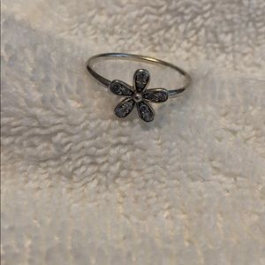 Barely worn flower Pandora Ring